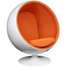 KADDUR LOUNGE CHAIR IN ORANGE - Mocofu