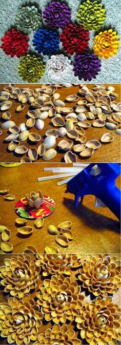 ARTE COM QUIANE - Paps,Moldes,E.V.A,Feltro,Costuras,Fofuchas 3D: como faz flor de concha