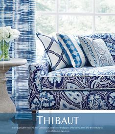 House of Turquoise: Trade Routes Collection from Thibaut White Home Decor, Diy Home Decor, Blue And White Fabric, Blue Fabric, Decor Scandinavian, House Of Turquoise, Fabric Houses, Blue Rooms, White Houses
