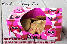Valentines Day Boxes: Tissue Box Craft -  Great for treats or as a child's Valentine's Day Mailbox - Time for All Things