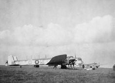 WORLD WAR II (October 1941) | St Eval, Cornwall: 'Armstrong Whitworth Whitley V Z6475/WL-D of No. 612 Squadron.'     ✫ღ⊰n