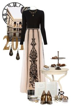 """""""Shall We Go To Tea?"""" by wishuponastar34 ❤ liked on Polyvore featuring Howard Miller, Proenza Schouler, Temperley London, Laura Geller, Dolce&Gabbana, Williams-Sonoma, Wedgwood, Puji, Menu and Match"""