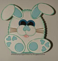 Happy Easter #stampinup #punchart #easter #Oval Framelits