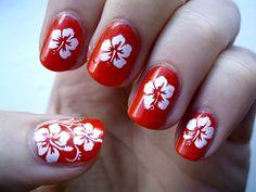 easy flower nail designs for beginners