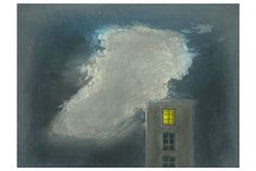 Richard Cartwright - House With Cloud Oil 11 x 15 ins, (27.94 x 38.10 cms)