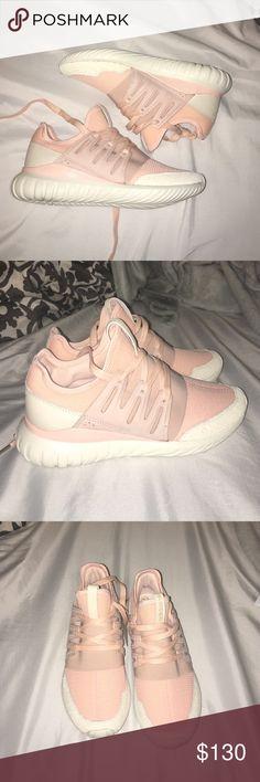 7b310a48036c2 Adidas Blush Pink Tubular Custom Size 8.5
