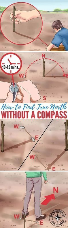 How to Find True North Without a Compass — Basic survival skills are essential for anyone living off the grid, whether it's by choice or in a SHTF situation. In the event that you have to navigate without landmarks, technology, or even a compass, you need to know how to find true north. #OffTheGridDIY