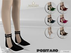 Madlen Positano Sandals  New flat sandals for your sim! Come in...      Madlen Positano Sandals    New flat sandals for your sim! Come in 7 colours (leather texture). Joints are perfectly assigned. All LODs are replaced with new ones.  You cannot change the mesh, but feel free to recolour it as long as you add original link in the description.  If you can't see this creation in CAS, please update your game. If you're experiencing thumbnail problem, update your game (latest patch shou..