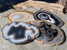 Agate Coaster Set of 4 Agate Coasters Geode Coasters Geode Coaster Extra Fancy GOLD BROWN BLACK Agate Coaster Gold Silver or Natural Edge by HandmadeByGin on Etsy