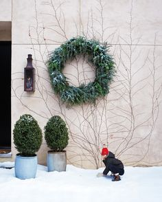 See the The Icicle Wreath in our Holiday Wreaths gallery at Martha Stewart Simple Christmas, Christmas Crafts, Christmas Ornaments, Christmas Ideas, Christmas Stuff, Christmas 2019, Christmas Displays, Christmas Door, Christmas Goodies