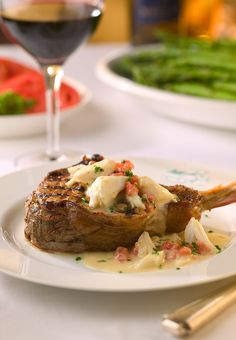 Veal Chop with Jumbo Lump Crabmeat