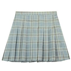Chicnova Fashion Pleated Mini Skirt in Check Print ($12) ❤ liked on Polyvore featuring skirts, mini skirts, pleated miniskirt, mini skirt, short green skirt, high-waisted skirts and pleated mini skirt