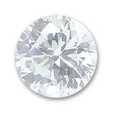 Cabochons en Zirconium ronds 4 mm Crystal x10
