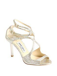Jimmy Choo Ivette Crinkled Leather Sandals (saksfifthavenue.com)