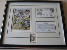 Babe Ruth Collectible Stanton Art First Day Of Stamp Issue With Frame