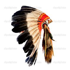 nativo cocar chefe índio americano (mascote chefe Indiana, ind - Imagem Stock: 27064123