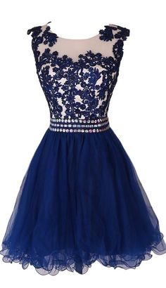 Lace Appliques Short Homecoming Dress,Short Graduation Dress