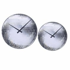 The image of a disco ball is very nostalgic and makes you think back to the good old days. This clock helps decorate your office or home by adding some sparkle to the room.   8801 - Small Disco and 8124 - Disco  #clock #clocks #nextime