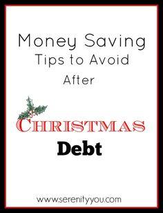 Money Saving Tips to Avoid After Chritsmas Debt #money #saving #finances