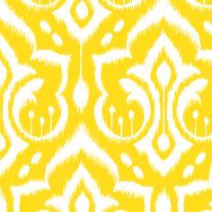 Sunshine Damask - Nursery Yellow fabric by pattysloniger on Spoonflower - custom fabric
