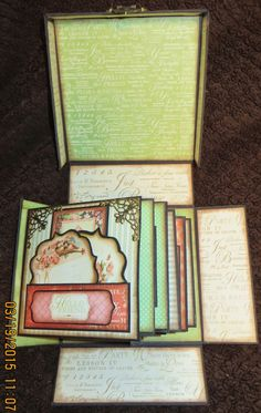 Moshie's Moments: Graphic 45 Autograph/memory Retirement Box Book