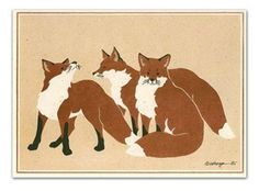 Den of Red Foxes - Note Cards by Wendy Morgan Fox Cards & Paper - Notecards - Fox at Horse and Hound Gallery