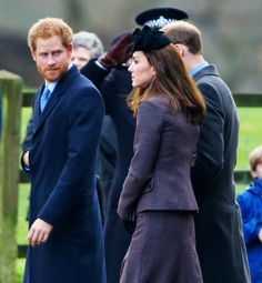 Kate Middleton, Prince William and Prince Harry got all decked out to join their royal extended family for a post-Christmas Sunday service at St. Mary Magdalene Church at Sandringham in Norfolk on Sunday, Dec. 27, 2015