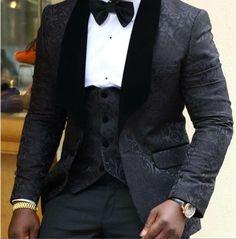 Brand New Groomsmen Shawl Lapel Groom Tuxedos Red/White/Black Men Suits Wedding Best Man Blazer (Jacket+Pants+Tie+Vest) C45 - Xamns