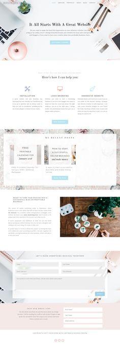 A Feminine Wordpress design for creative solo entrepreneurs and flourishing business owners.