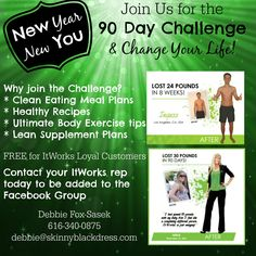 ItWorks 90 Day Challenge - New Year New You | Skinny Black Dress