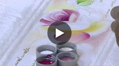 Mulher.com - 21/08/2015 - Pintura de rosas em toalha - Ana Laura Rodrigues PT2