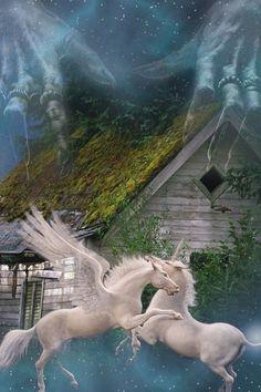 hd beautiful fantasy unicorns iphone 4s wallpapers