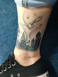 I like the Hogwarts silhouette not on the leg though