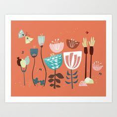 Idyllic Floral Art Print by sylvia tay - $19.00