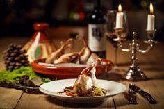"X-Mas Menu bei Thomas Gruber - X-Mas quail by gourmet cook ""Thomas Gruber"" Gourmet Cooking, Quail, Chocolate Fondue, Menu, Ethnic Recipes, Desserts, Food, Menu Board Design, Tailgate Desserts"
