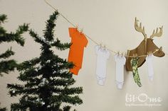 Camo shower decorations