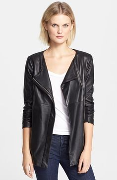 Veda 'Robinson' Long Leather Jacket available at #Nordstrom