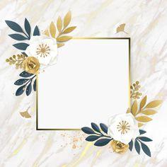 Gold Wallpaper Background, Framed Wallpaper, Flower Wallpaper, Background Patterns, Iphone Wallpaper, Cadre Design, Frame Border Design, Instagram Frame, Frame Template