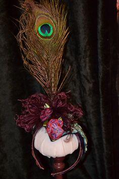Peacock Feathered Headband, costume, photo prop, head dress, fancy. $35.00, enchantedfairyco via Etsy.
