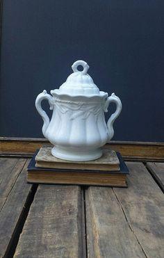Antique Ironstone Sugar Bowl Forster And by ElisabethMacBeth