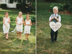 flower girls and ring bearer // photo by http://braun-photography.com
