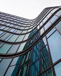 SEB bank headquarter in Copenhagen, Denmark. Amazing contemporary glassed facade architecture.