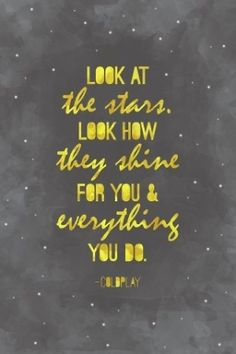 look at the stars. #quote