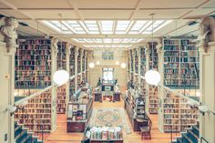 The Providence Athenaeum Library, Rhode Island   Photographed by Franck Bohbot via reddit [[MORE]] Imgur Mirror