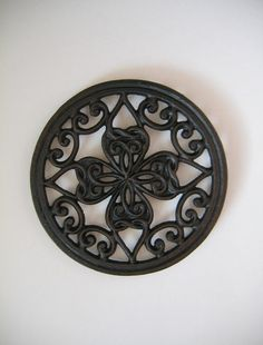 Cast Iron Four Leaf Clover Trivet by goodvintage on Etsy