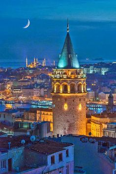 Galata tower, Istanbul, Turkey for great views over the city Places Around The World, The Places Youll Go, Travel Around The World, Places To See, Around The Worlds, Wonderful Places, Beautiful Places, Empire Ottoman, Turkey Travel