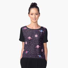 """Constellations and Planets Pattern"" Women's Chiffon Top by AnastasiaShem | Redbubble #constellation #constellations #pattern #cosmos #space #galaxy #universe #cosmic #stuff #things #stars #starry #saturn #planets #planet #moon #pink #pastel #goth #cute #purple #astronomy #art #faerieshop #buyonline #shopping #buy #sale #redbubble #clothing #outfits #shirt #tee #teeshirt #shirts #womenswear"