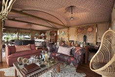 Join us at Somalisa Camp for an authentic African Safari. #AfricanBushCamps #Zimbabwe #Decor #Style #Luxury