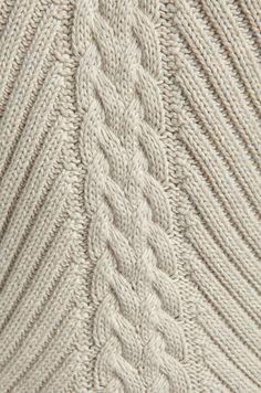 Autumn Cashmere Studded Rib Cable Crew Sweater en Hemp