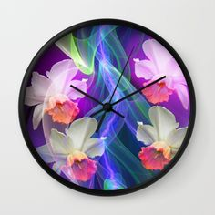 Buy Dreamy Spring with Daffodils Wall Clock by thea walstra. Worldwide shipping available at Society6.com. Just one of millions of high quality products available.